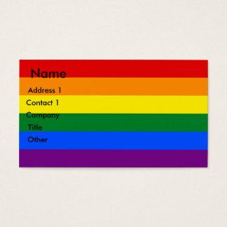 Business Card with LGBT Rainbow Flag