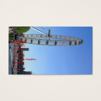 Business Card with London Eye Ferris Wheel