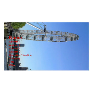 Business Card with London Eye Ferris Wheel