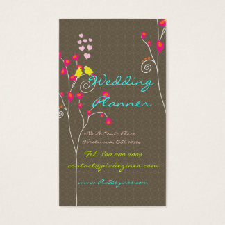 Business Card with love birds
