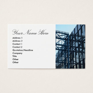 Business Card with Modern Architecture