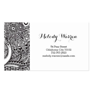 Business Card with Ornament