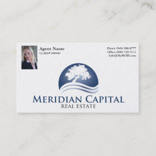 Business Card With Photo Pearl Finish