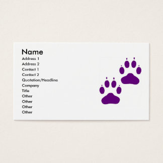 Business Card with Puppy Paws