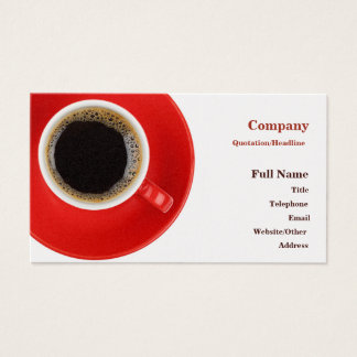 Business Card with red coffee cup