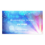 Business card with stunning abstract light