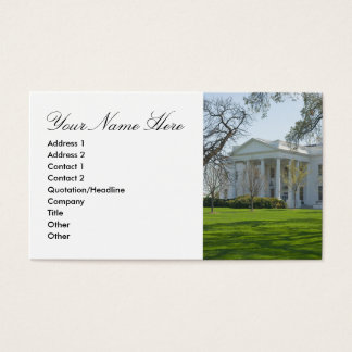 Business Card with the White House