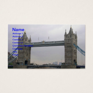 Business Card with Tower Bridge over the Thames