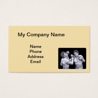Business Card with Two Boxers Logo