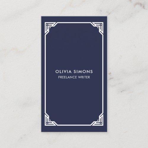 Business Card with vintage celtic frame