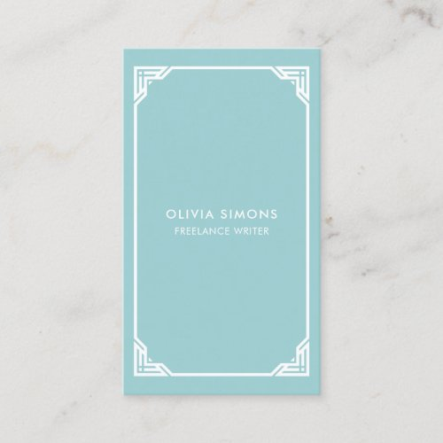 Business Card with vintage celtic frame