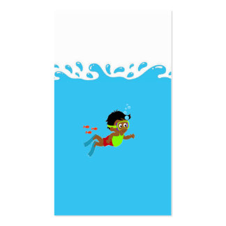 Business Card with Water Splash