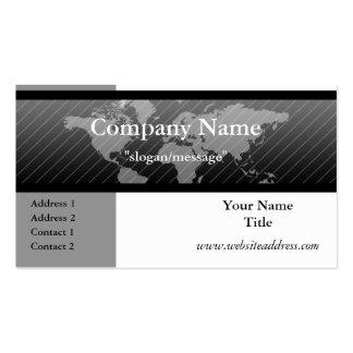 Business Card :: World Map B/G/W D4