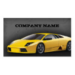 Business Card Yellow Sports Car