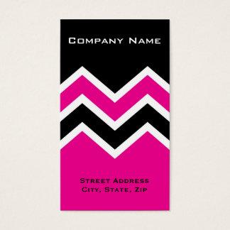 Business Card Zig Zag Chevron Pattern