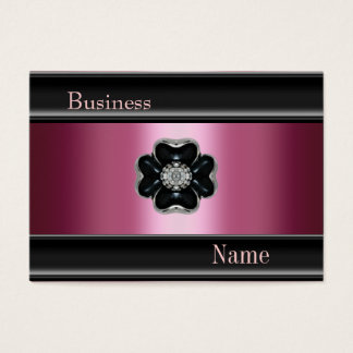Business Card Zizzago Silk Pink Black Jewel