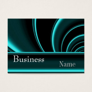 Business Card Zizzago Teal Black Silk Swirl 2
