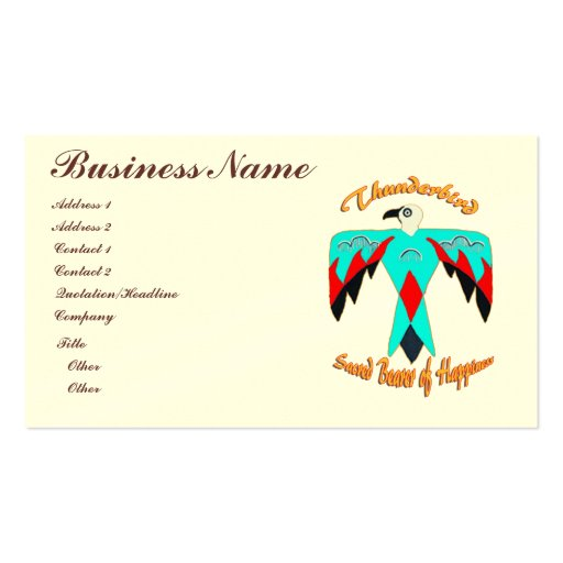 Native american business card templates page2 bizcardstudio business cards colourmoves Choice Image