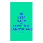[Crown] keep calm and love the janoskians  Business Cards