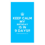 [Cupcake] keep calm my birthday is in 9 days!!  Business Cards