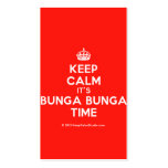 [Crown] keep calm it's bunga bunga time  Business Cards
