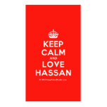 [Crown] keep calm and love hassan  Business Cards