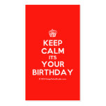 [Cupcake] keep calm its your birthday  Business Cards
