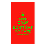 [Cutlery and plate] keep calm and don't eat my face  Business Cards