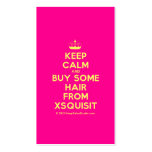 [Knitting crown] keep calm and buy some hair from xsquisit  Business Cards