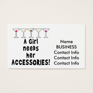BUSINESS CARDS - A GIRL NEEDS HER ACCESSORIES