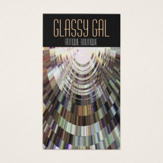 Business Cards Abstract Glassy Gal DiscoBall Brown