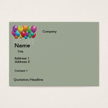 Business Cards  Balloons  Design by CREATIVEforBUSINESS at Zazzle