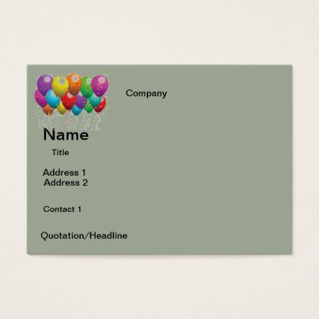Business Cards  Balloons  Design
