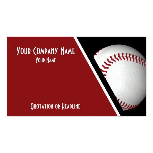 Business cards baseball zazzle for Zazzle business card