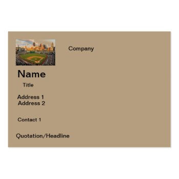 Business Cards  Baseball Field  Design by CREATIVEforBUSINESS at Zazzle