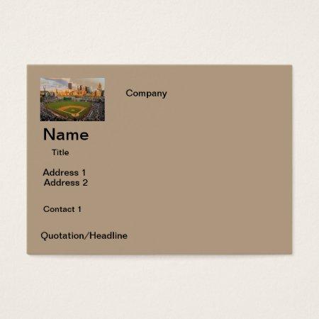 Business Cards  Baseball Field  Design