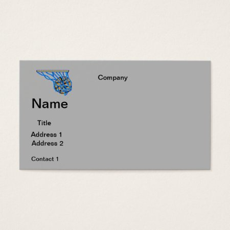 Business Cards Basketball Design