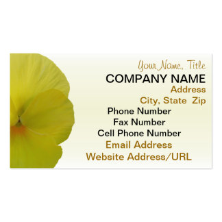 Business Cards - Bearded Lemon Pansy