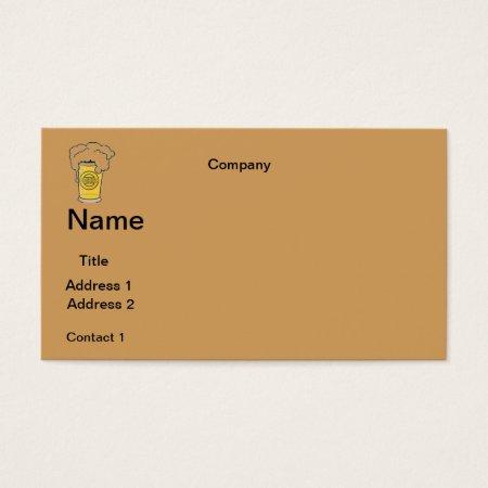 Business Cards Beer Design