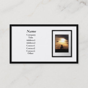 Picture frame business cards zazzle business cards black picture frame white mat colourmoves