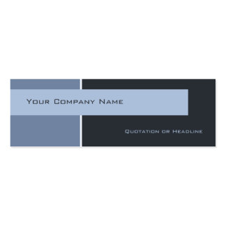 Business Cards Blocked Blue Profile