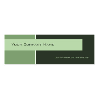 Business Cards Blocked Green Profile