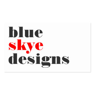 business cards > blue skye  [red : charcoal]