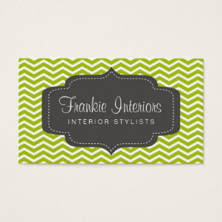 business cards > chevron2 [charcoal:lime]