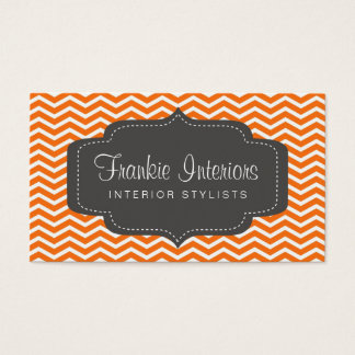 business cards > chevron2 [charcoal:orange]