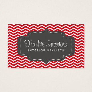 business cards > chevron2 [charcoal:red]