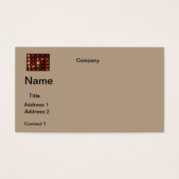 Business Cards  Chocolates Design by CREATIVEforBUSINESS at Zazzle