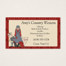 Business Cards : Country Farm Girl & Animals2
