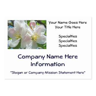 Business Cards Custom Apple Blossoms Pastel