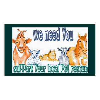 Business Cards,customizable pet rescue